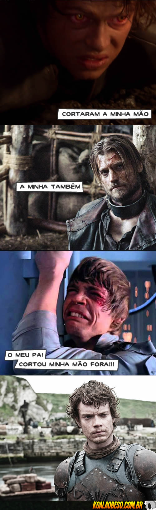 Star Wars X Game of Thrones - Anakin X Jamie X Luke X Theon