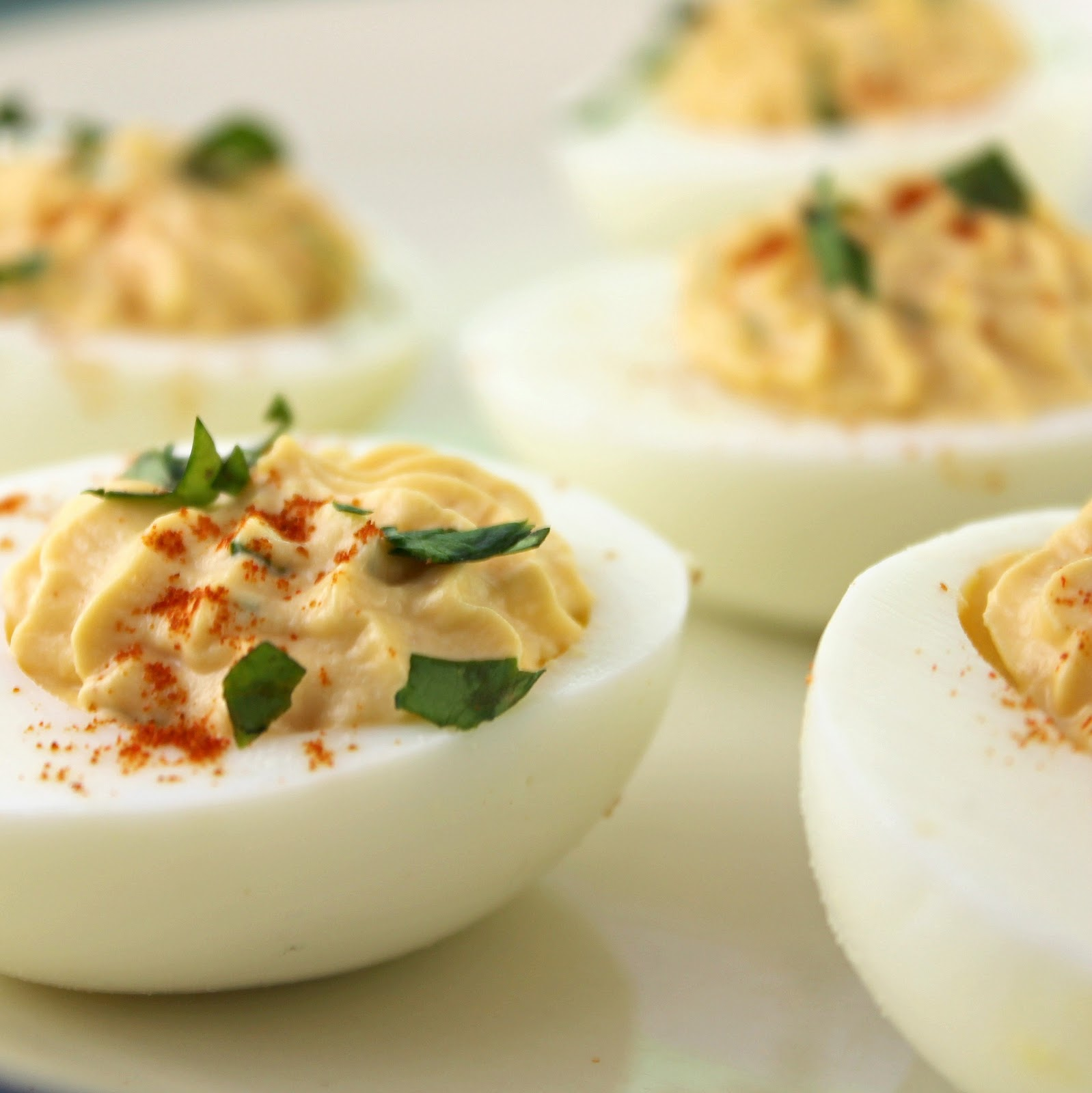 Sriracha Deviled Eggs | I Can Cook That