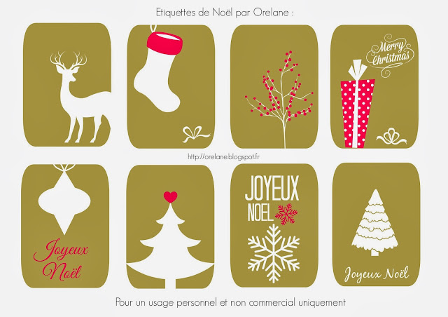 Favorit Orelane: De l'or et du rose pour les étiquettes de Noël à imprimer ! ND49