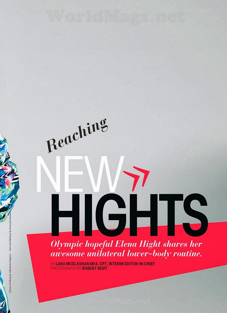 Elena Hight HQ Pictures Oxygen Magazine Photoshoot February 2014