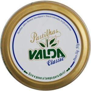 Embalagem das Pastilhas Valda