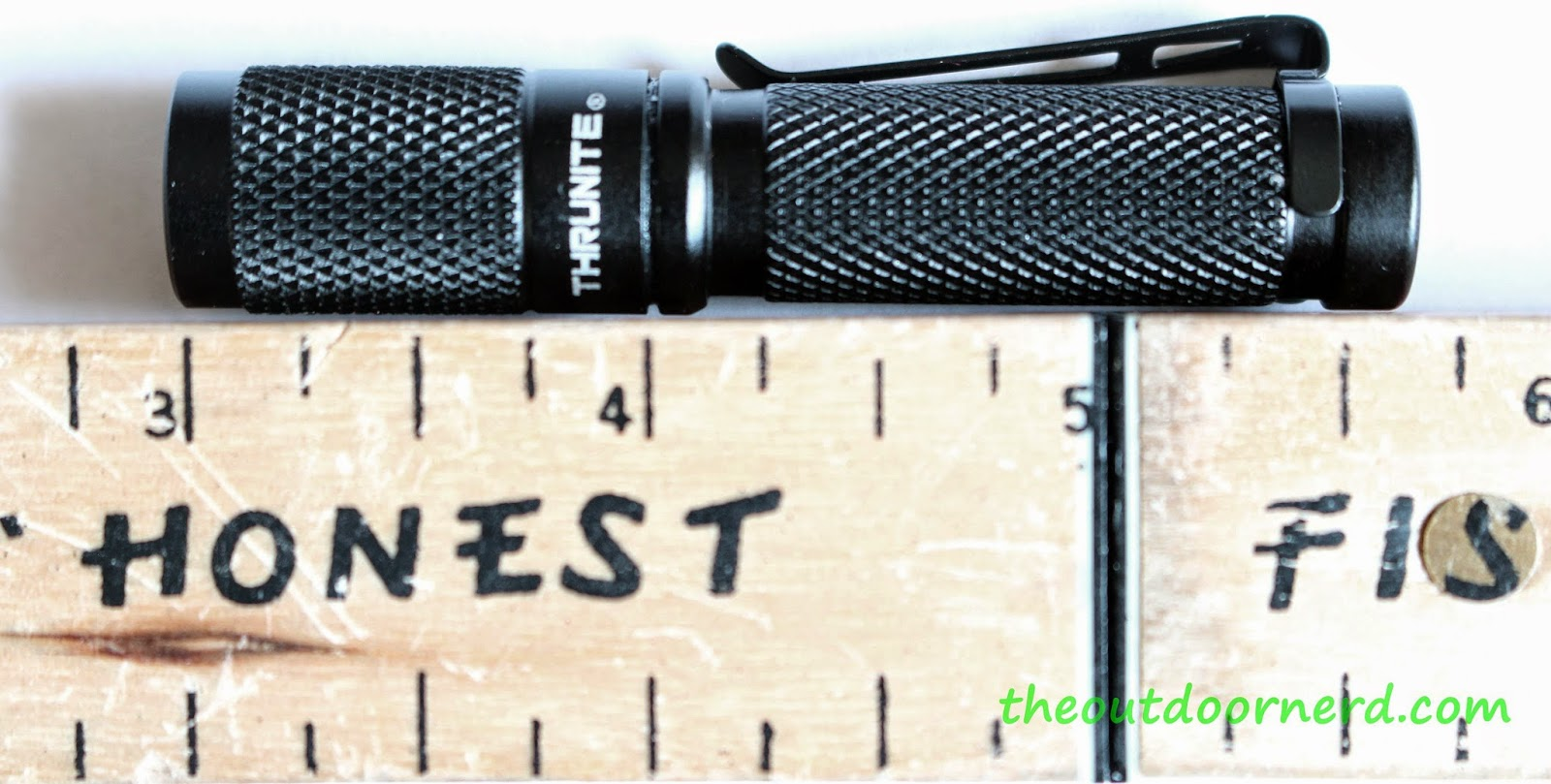Thrunite Ti3 1xAAA EDC Flashlight: Next To Ruler