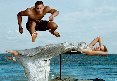 Ashton Eaton and Karlie Kloss Vogue Olympic Team