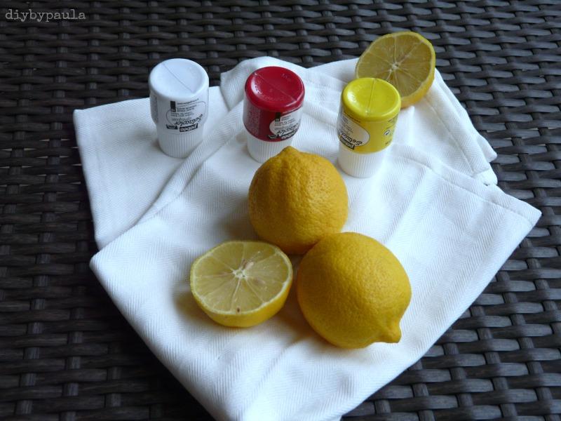 estampar con limones