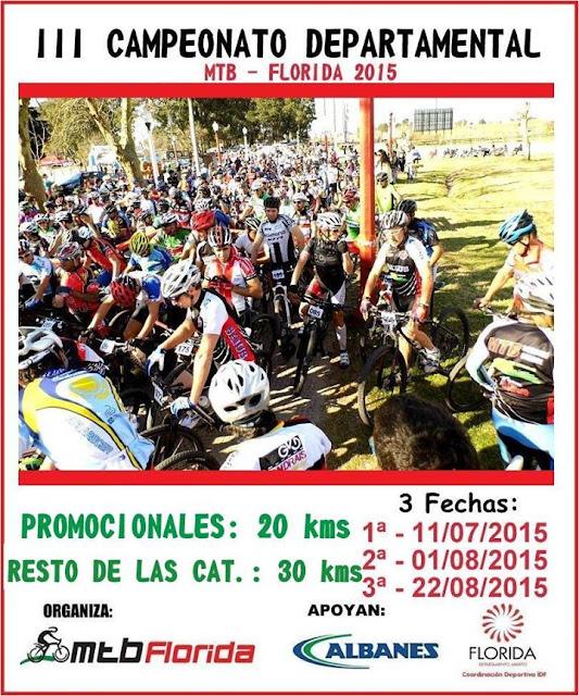 MTB - 3º Campeonato departamental de Florida (2a fecha, 01/ago/2015)