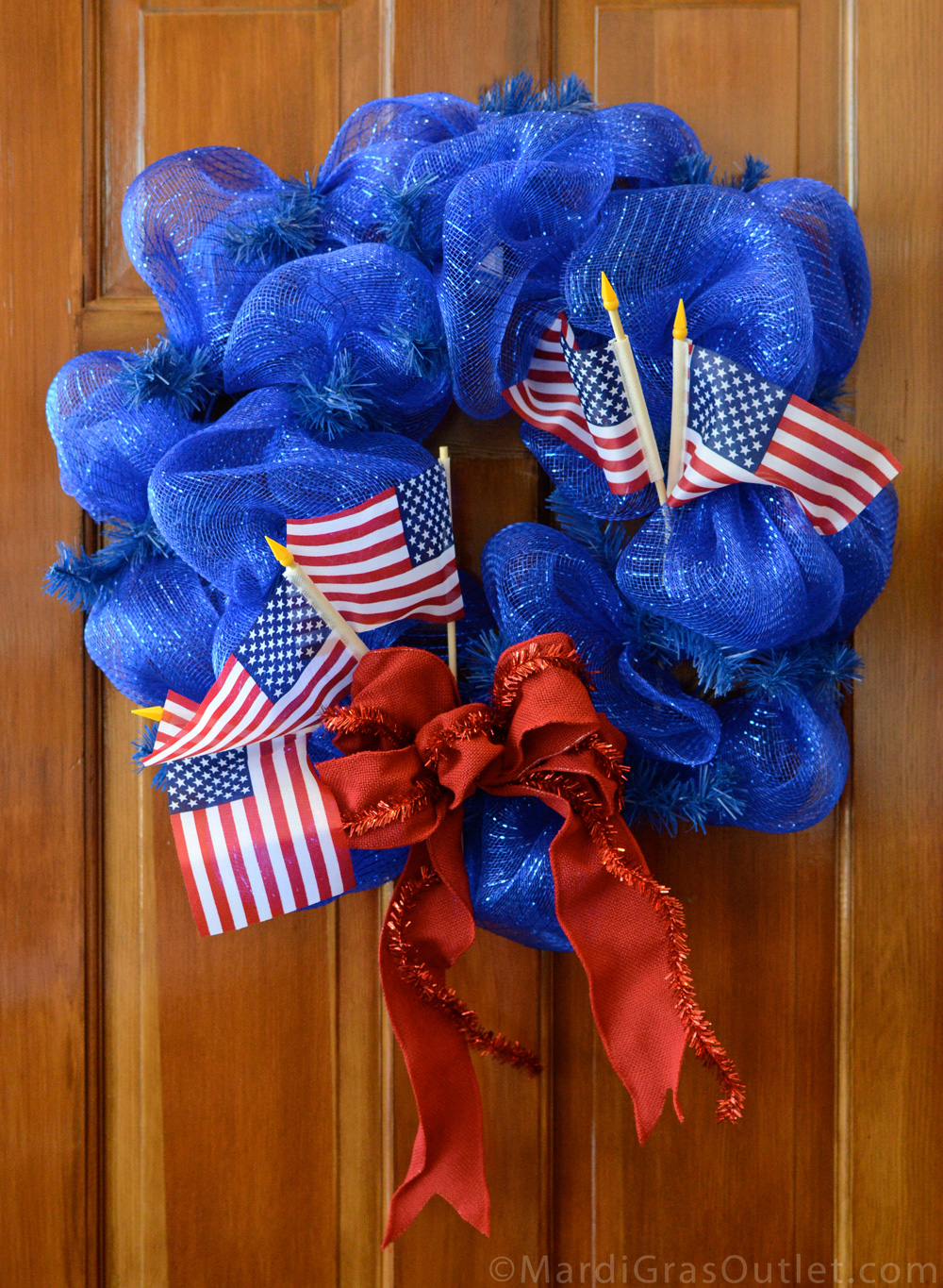 Party Ideas By Mardi Gras Outlet Patriotic Wreath Tutorial With