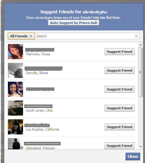how to delete all friend suggestions on facebook