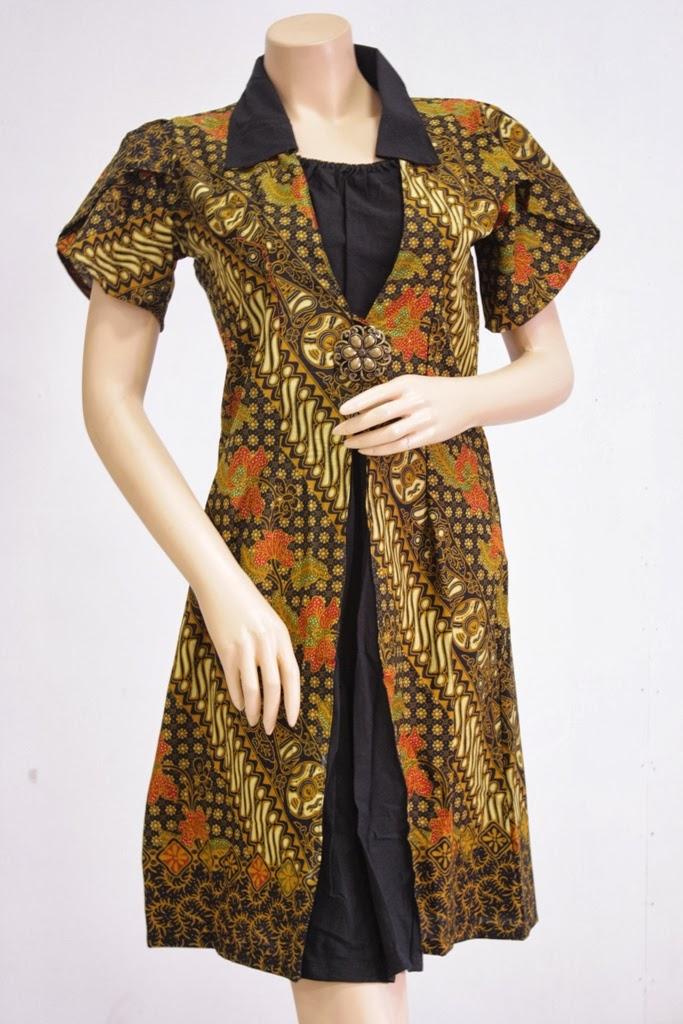dari baju batik untuk kerja 1 model baju batik kerja lengan pendek