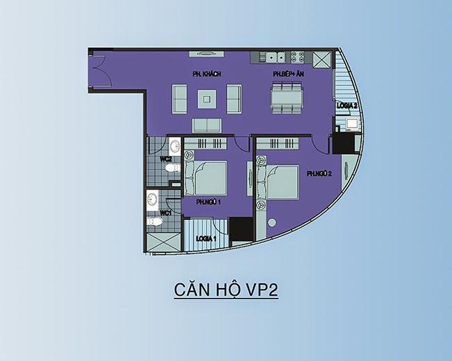 căn hộ VP2 - 89,8m2