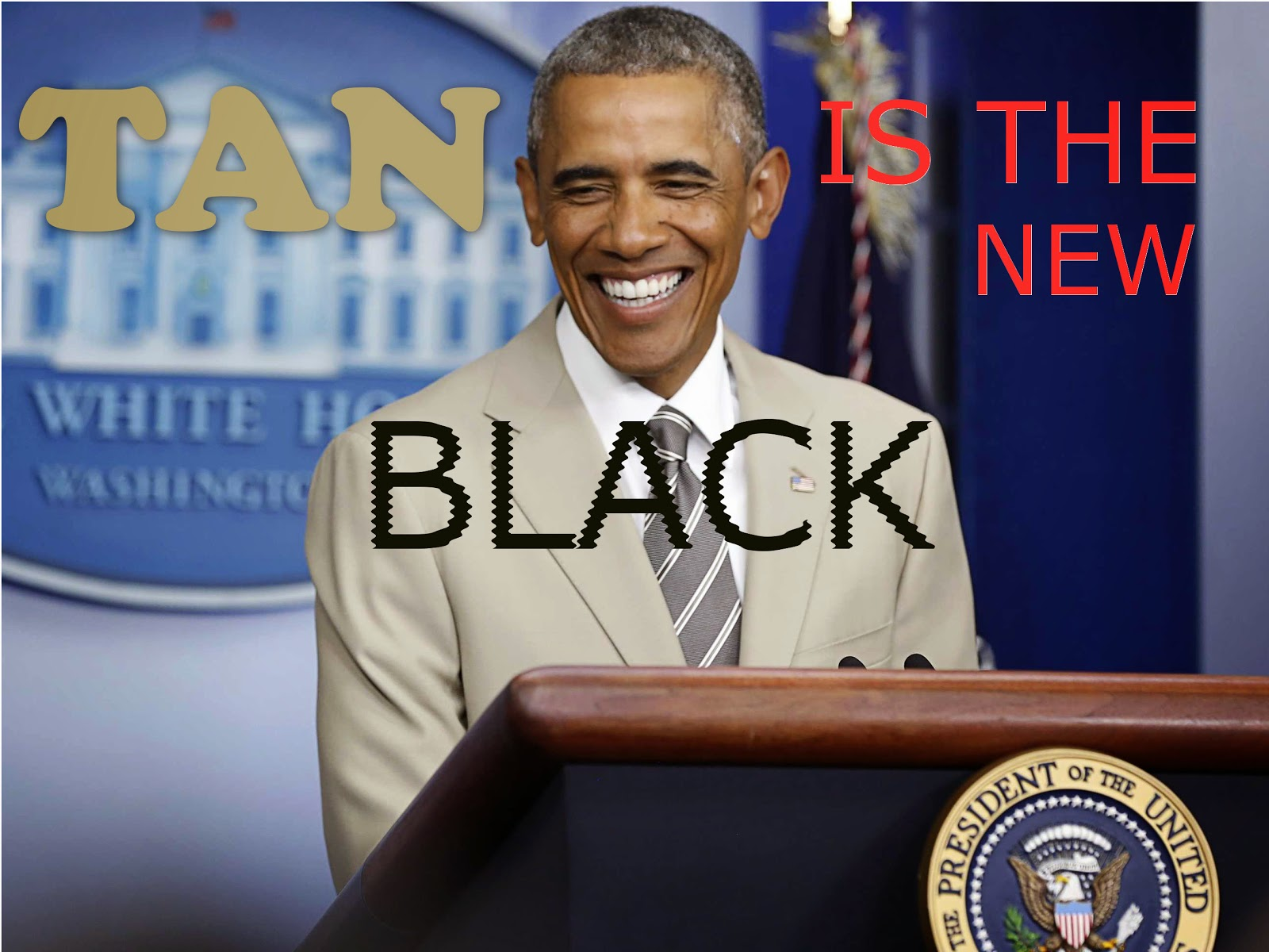 President Barack Obama in suitgate
