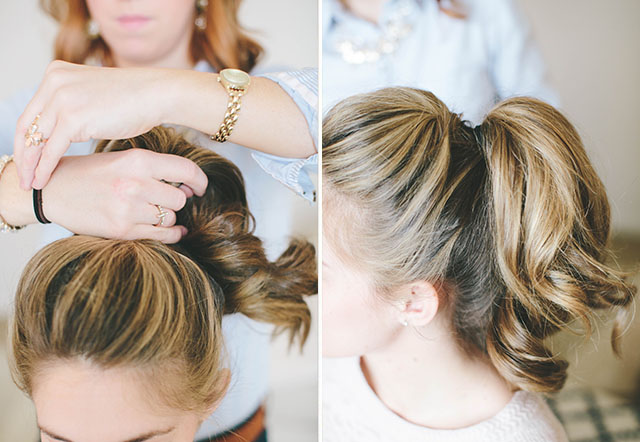 how to put a hair donut in your hair