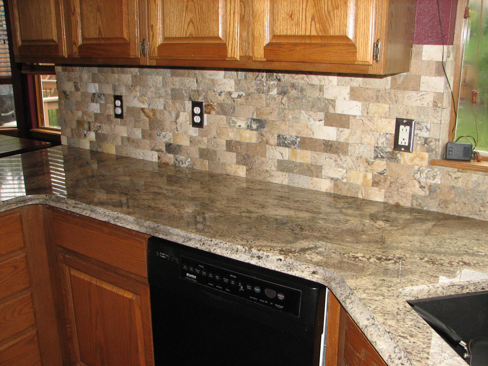 backsplash lighthouse stone kitchen backsplash in golden antico