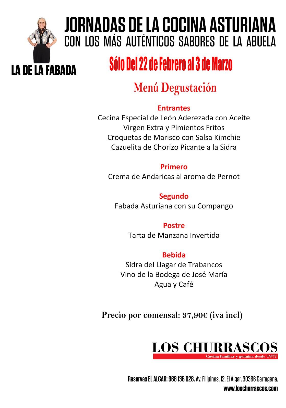 Jornadas de la Cocina Asturiana en Los Churrascos.