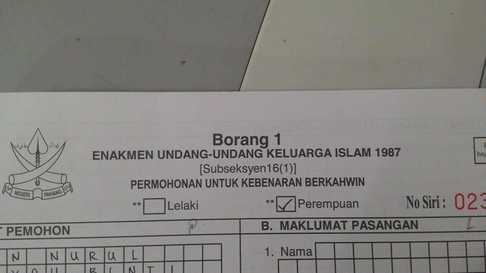 T For Tun 00 T T Ieday Urusan Borang Nikah Untuk First