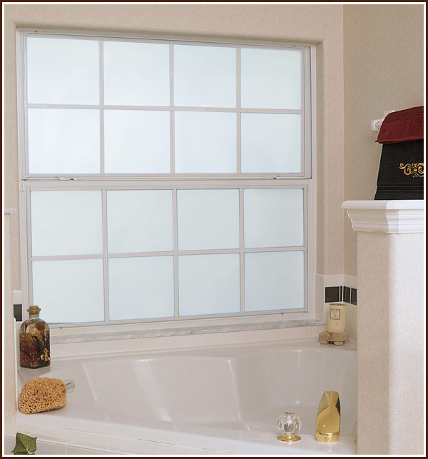 Adorned abode archive privacy treatments for bay windows for Bathroom window treatments privacy