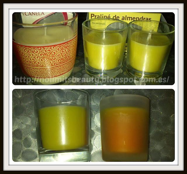 Velas perfumadas Mercadona - Manzana y Canela - Praliné de almendras