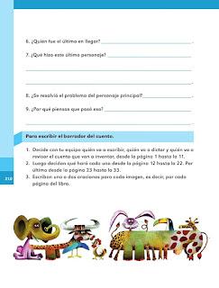 Apoyo Primaria Español 1er grado Bimestre 5 lección 17 ¡A escribir el cuento!
