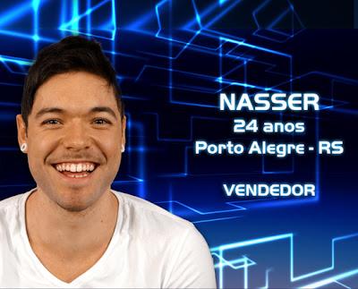 Lista de participantes do BBB 13 - Nasser - Porto Alegre RS - Flagras - Fotos