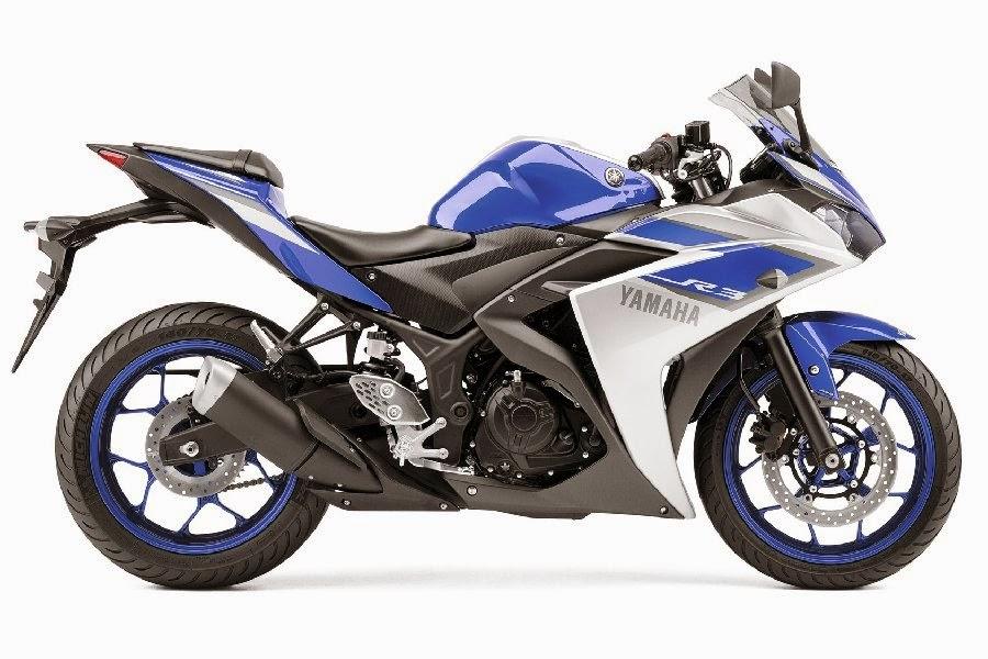 Yamaha YZF-R3 Race Blu (2015) Side