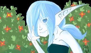 Niebiesko skóra elfka