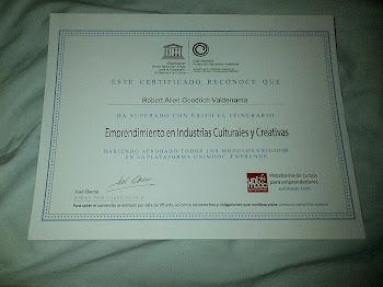 Certificado Club Cultural UNESCO y UniMooc aemprende