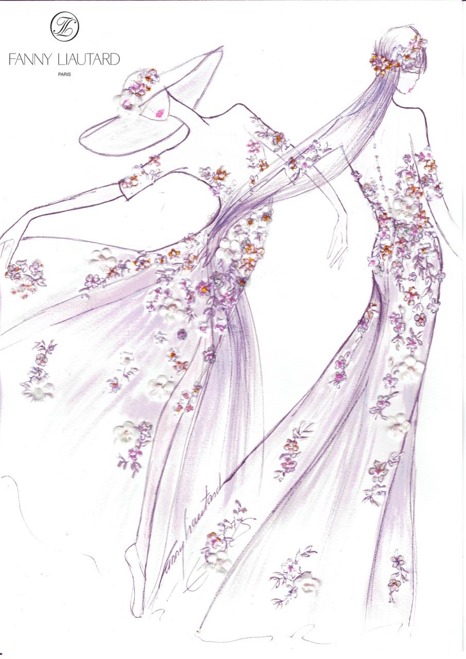 Fanny liautard robe de mari e c r monie soir cocktail - Dessin de couture ...