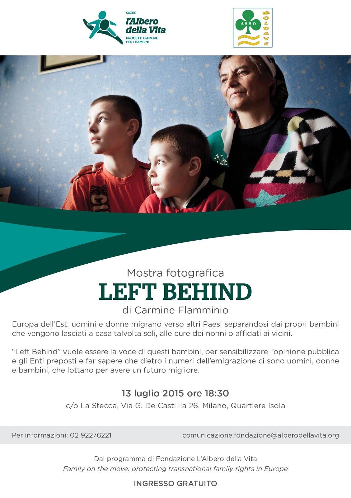 """MILANO: Mostra fotografica """"Left Behind""""  di C. Flamminio - ambientata tra la Moldavia e l'Italia"""