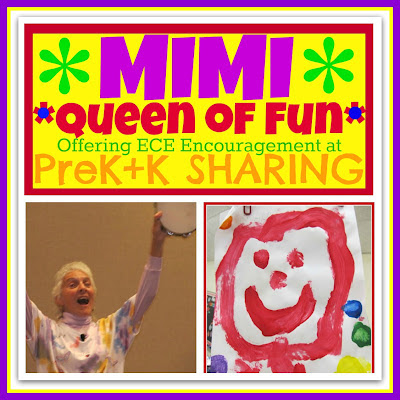 photo of: Mimi Brodsky Chenfeld, Queen of Fun Offers Encouragement at PreK + K Sharing