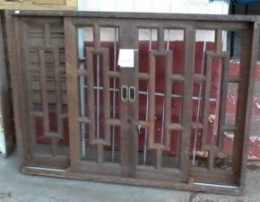 vitro de madeira 100x140