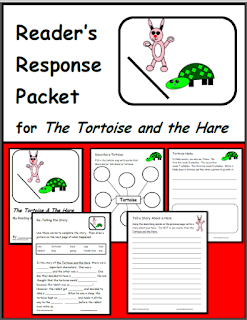 Free download - The Tortoise and the Hare reading response packet with multiple different response options. Free download from Raki's Rad Resources
