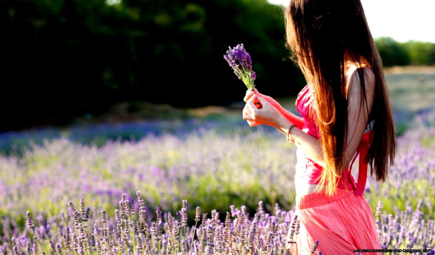 Girl Field Flowers Mood Hd Wallpaper  Best Desktop Wallpapers