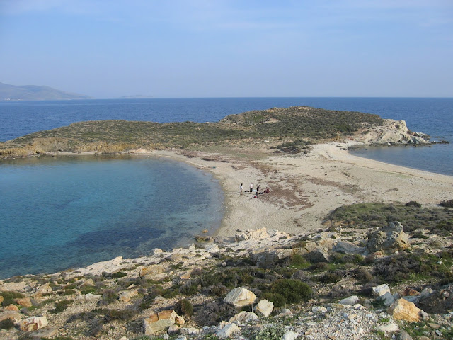Tombolo near Karystos, Euboea, Greece