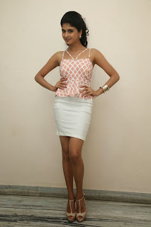 Naveena in White Mini Skirt and lovely Sleeveless Tank Top Spicy Beauty