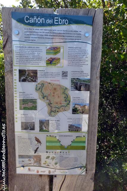 Panel informativo sobre el Cañón del Ebro