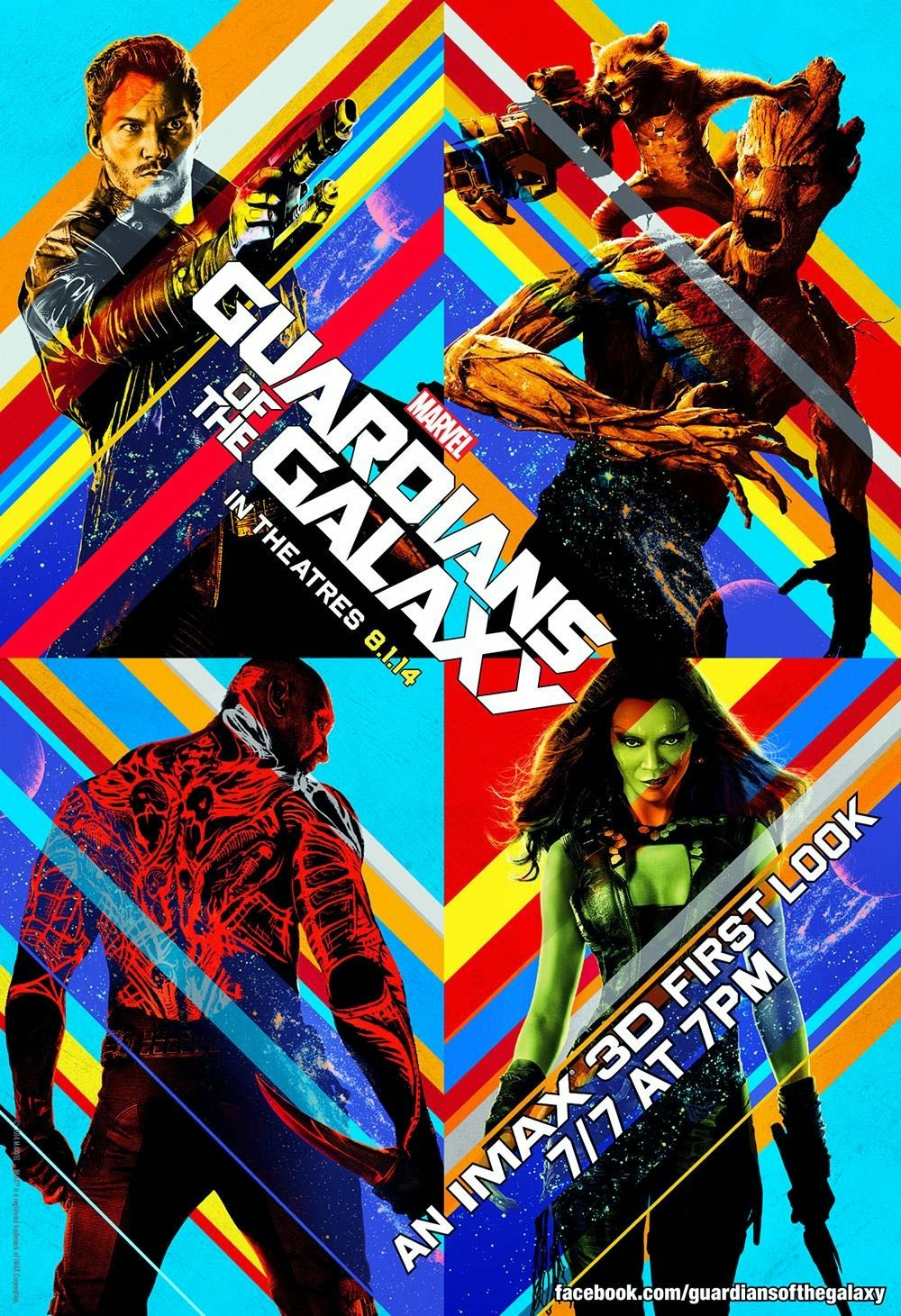 Guardians of the Galaxy - An IMAX 3D First Look Theatrical One Sheet Movie Poster