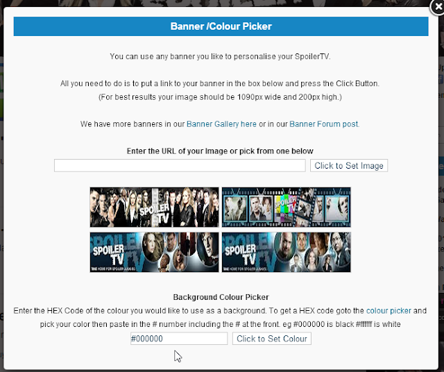 Change your SpoilerTV Background Color