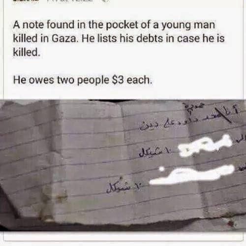Kisah Nota Hutang Dalam Poket Pemuda Palestin