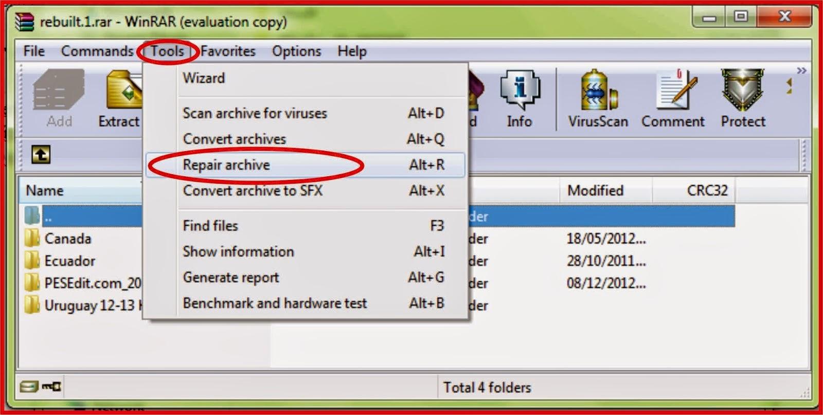 Cara Mengatasi File RAR yang Rusak/Corrupt (WinRar: Diagnostic Messages)