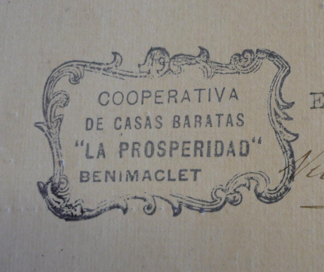 Escudos sellos y membretes valencia cooperativa de casas baratas la prosperidad - Casas baratas en pueblos de valencia ...