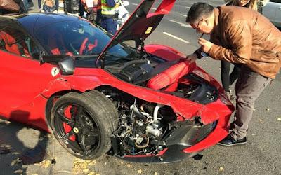 Πώς μια Ferrari γίνεται «παλιοσίδερα» σε 10 δευτερόλεπτα