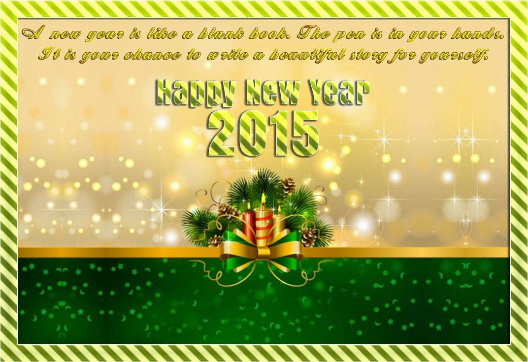 Beautiful Happy New Year 2015 Greetings eCards