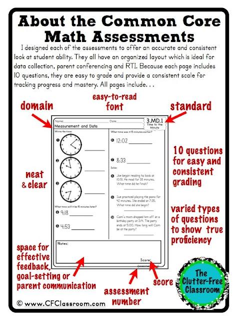 3rd grade common core math assessments pdf