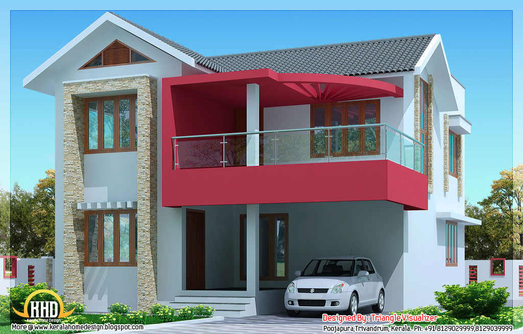 2030 simple modern house in trivandrum kerala for Simple and modern house