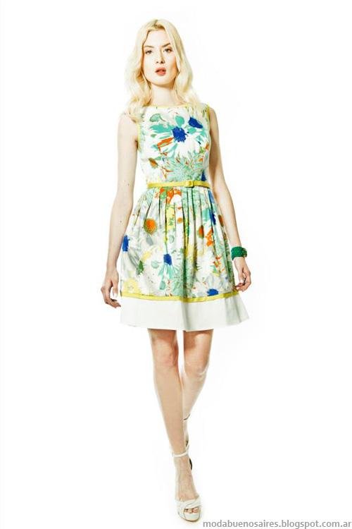 Janet Wise primavera verano 2014. Moda verano 2014 vestidos.