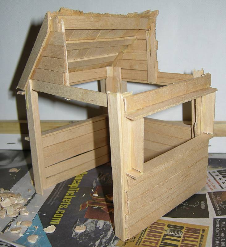 Any How Town Building A Popsicle Stick House Examples