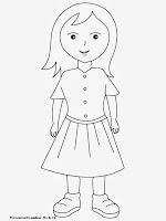Mewarnai Gambar Anak Perempuan