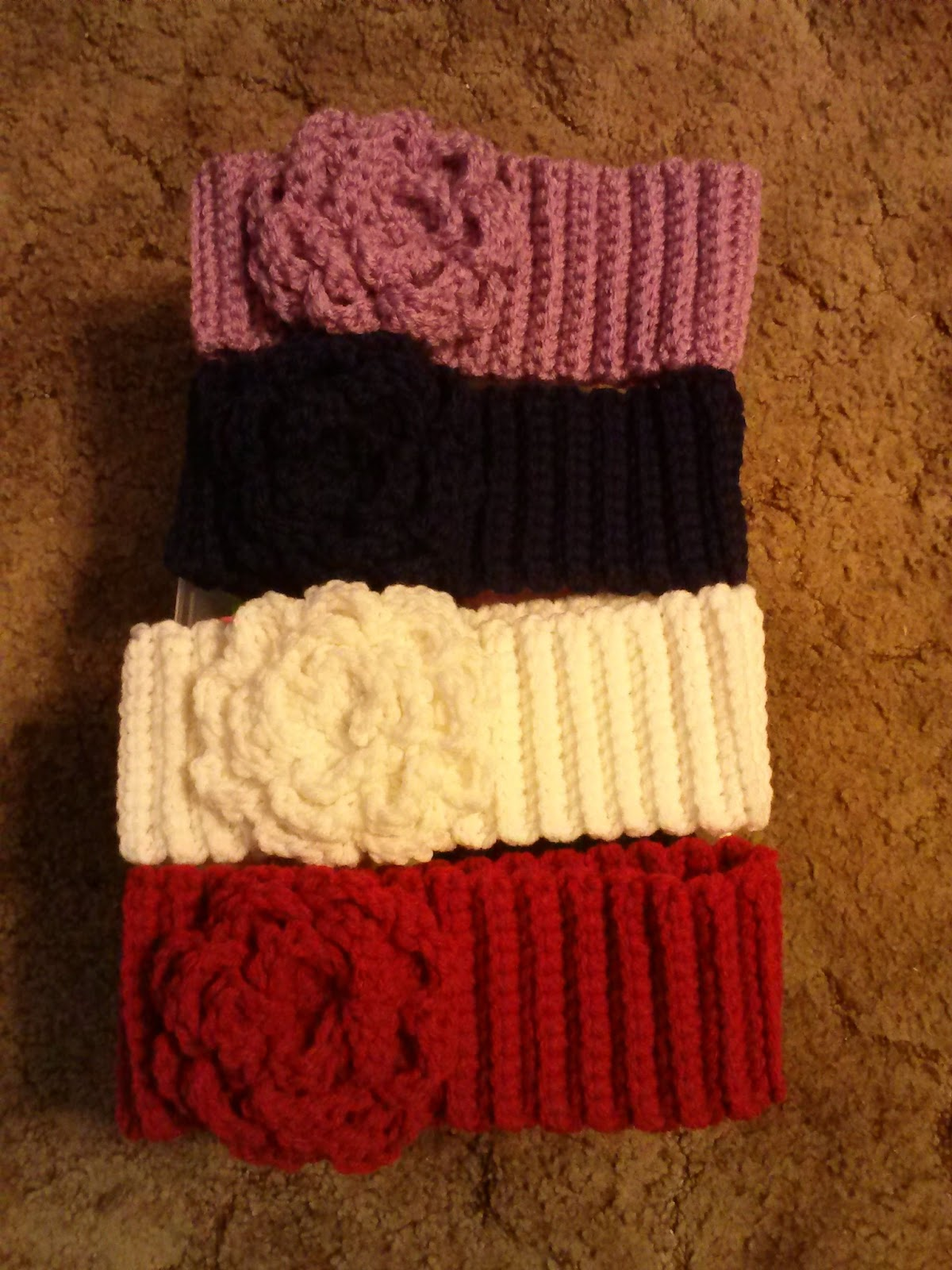 Knitting Pattern Ribbed Headband : Family, Books and Crochet...Oh My!: Ribbed Crochet Headbands