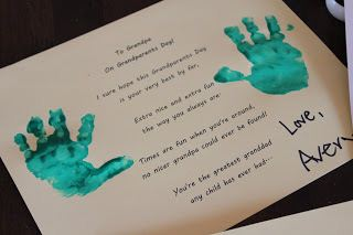 A Kid Named Avert Wrote A Poems With Hand Mark To Say All The Wishes To His Grandpa On Grandparents Day