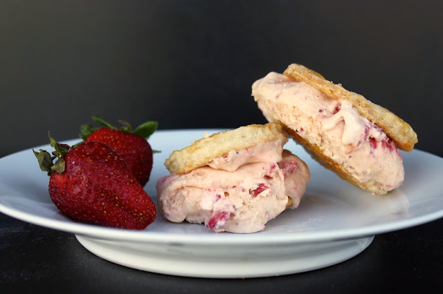 stawberries, pickled strawberry ice cream, ice cream, ice cream sandwich