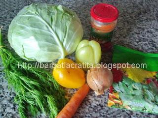 Varza calita cu mamaliguta ingrediente reteta